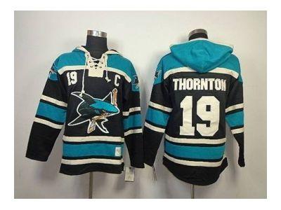 ... nhl jerseys san jose sharks 19 joe thornton black-green(pullover hooded  sweatshirt Old Time ... 2eefeaa9c