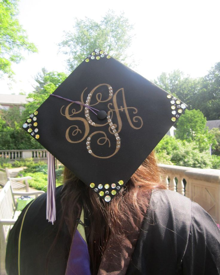 I will do this to Steph's grad cap when the time comes! 4 years to plan out the design...