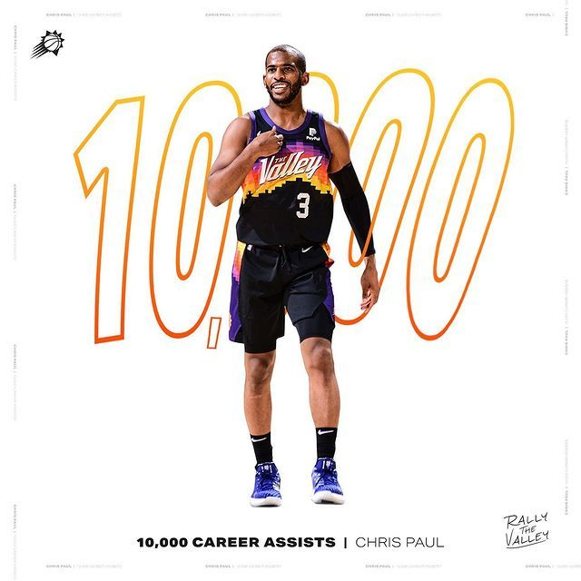 Phoenix Suns On Instagram The 6th Player In Nba History To Reach 10 000 Career Assists Congrats Cp3 In 2021