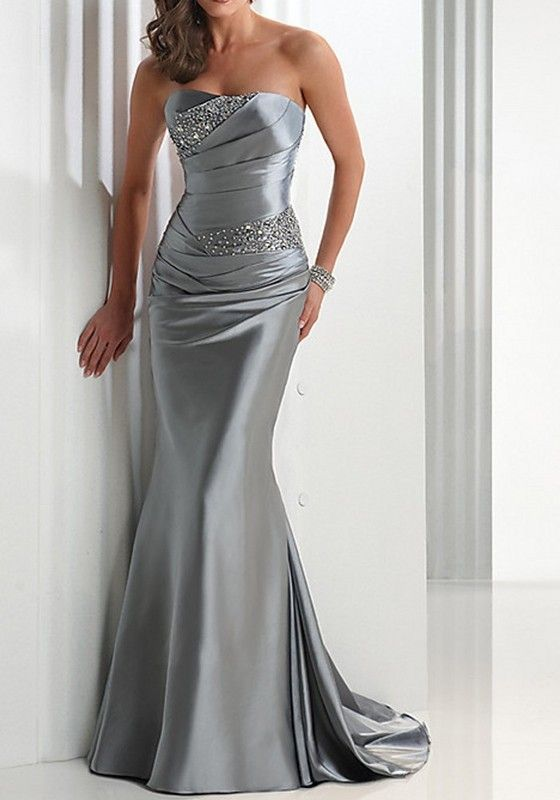 Grey Patchwork Draped Bandeau Sequin Sleeveless Maxi Dress
