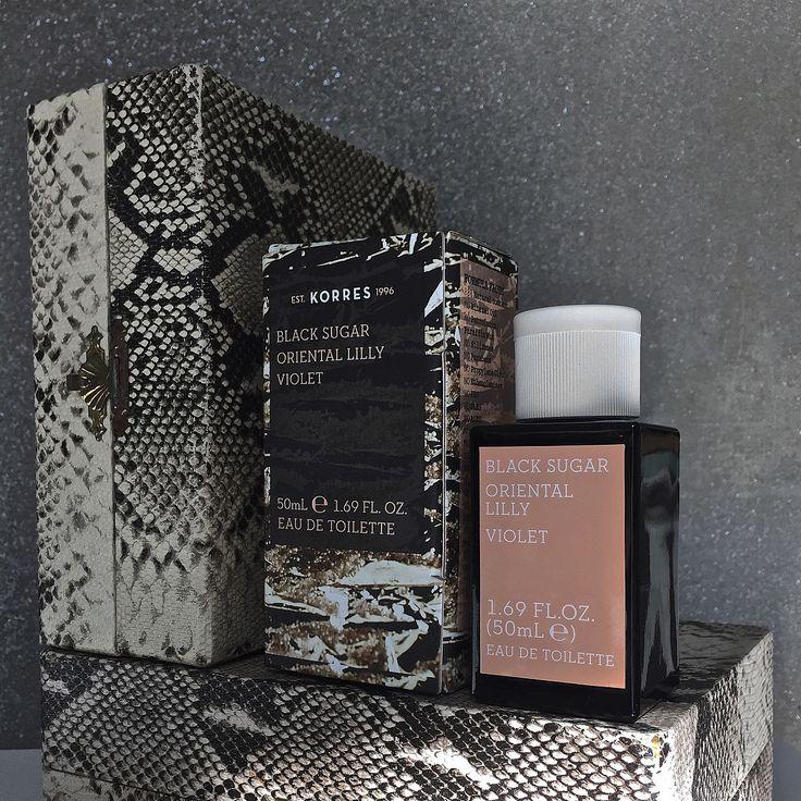 Black Sugar/ Oriental Lilly/ Violet #korres #korres #fragrance