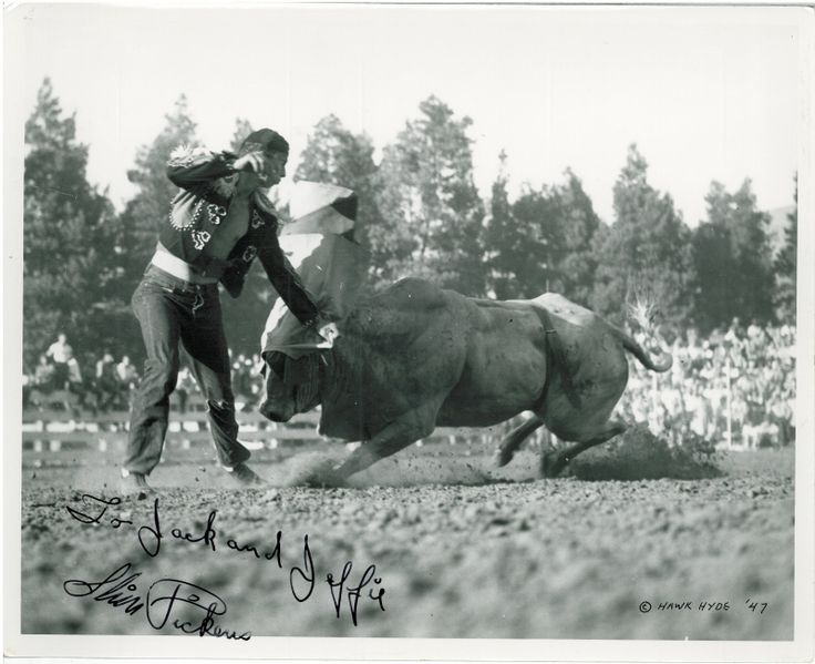 1940 S Slim Pickens Rodeo Clown Bull Fighter 1947 Old
