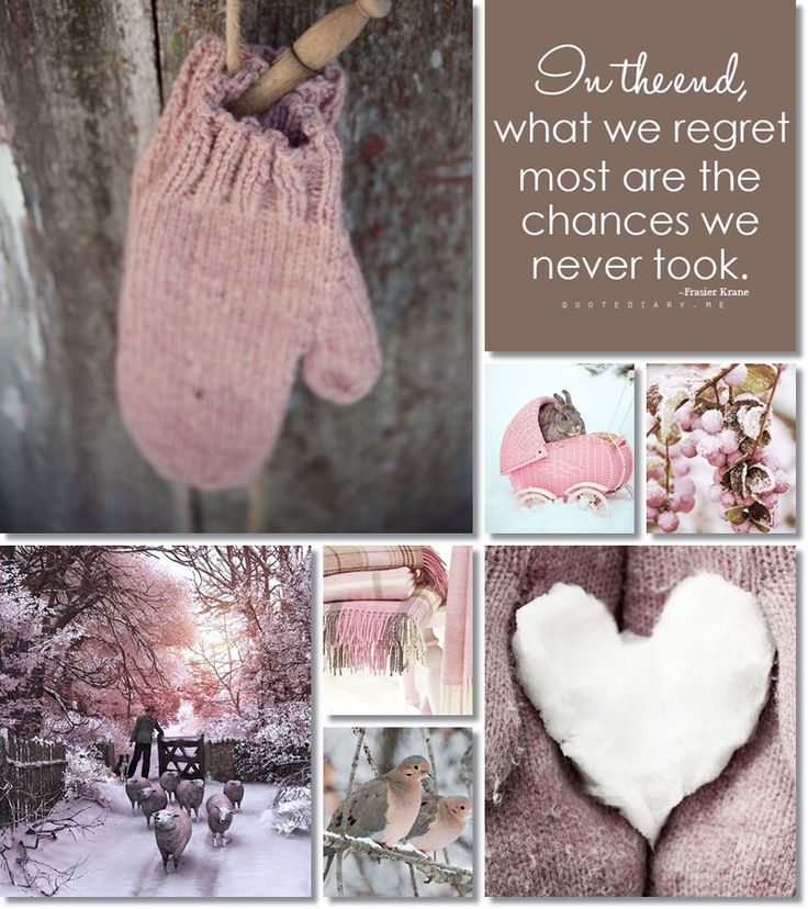 'In the end, what we regret most are the chances we never took' moodboard winter by AT