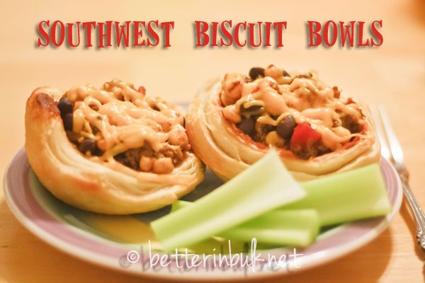 Southwest Biscuit Bowls - a kid-friendly meal