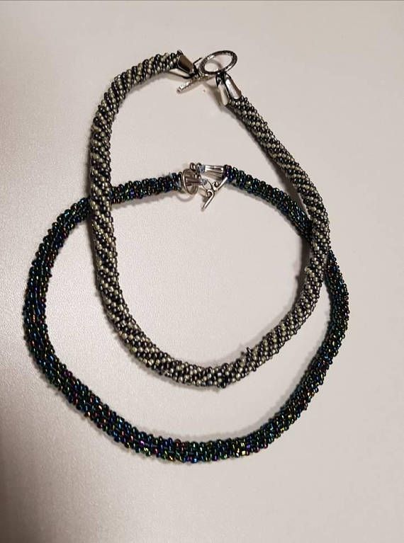 Check out this item in my Etsy shop https://www.etsy.com/listing/568891666/beaded-crochet-rope-necklace-crochet
