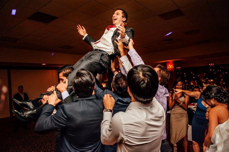 Greek wedding dance party photo