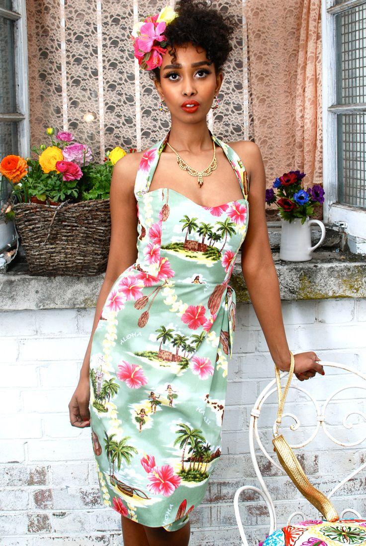 Hawaiian Sarong Dress from Tara Starlet - perfect vintage holiday dress 100% cotton