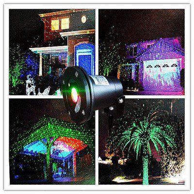 Buiten verlichting (Kerst versiering) heel apart, het rood of groen, zeker eens doen
