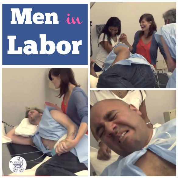 Men in labor? Yeah, the idea --- and this simulation --- cracks us up.