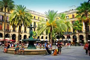Tourist attractions in Barcelona, Spain