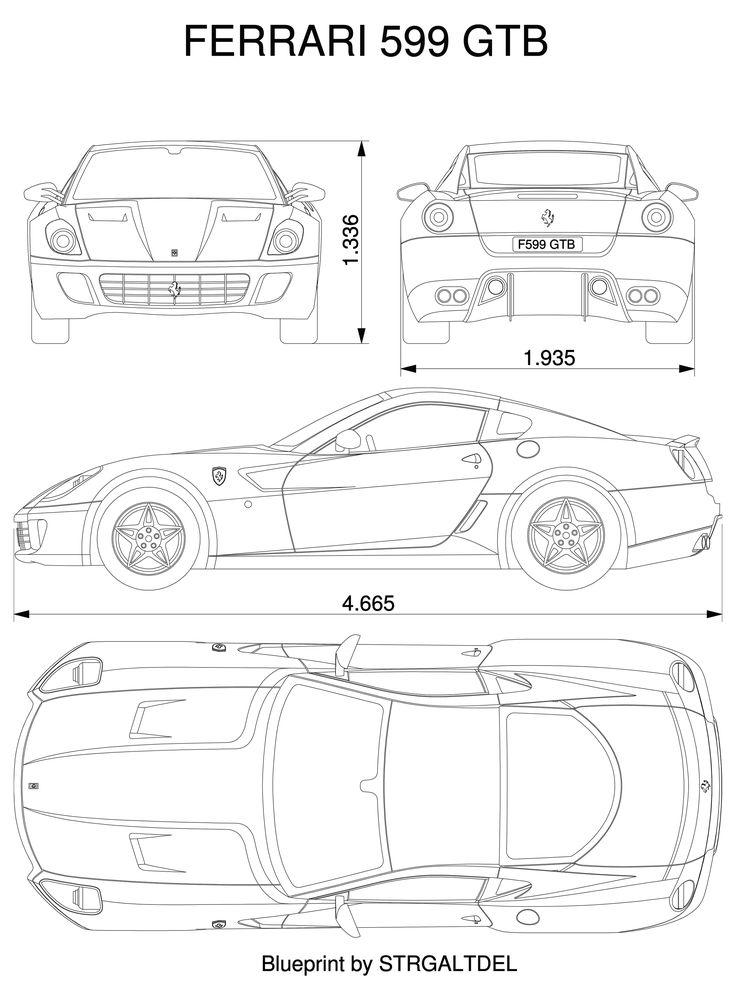 Ferrari 599 blueprint                                                                                                                                                      Mehr