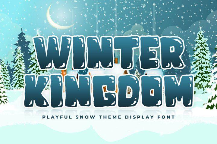 Snow Font Winter Kingdom 733262 Christmas Font Bundles In 2020 Christmas Fonts Photoshop Icons Font Bundles