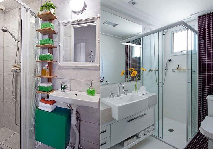 antes e depois da reforma no banheiro  Home Sweet Home  Pinterest  Blog an -> Reforma De Banheiro Pequeno Antes E Depois