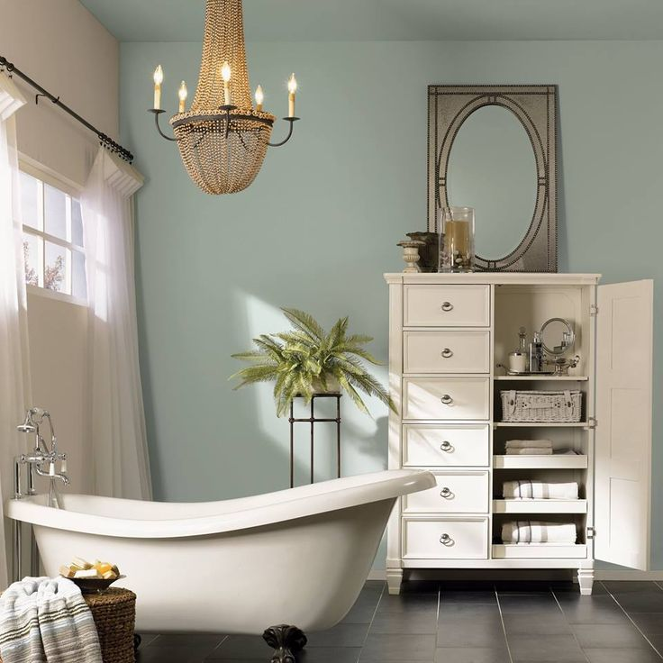 This dreamy color is by far one of the most versatile bathroom hues. Read our latest post for other ideas to incorporate Sherwin-Williams February color pick of the month into your own homes. #acaciahaze #greenandserene #sagegreen