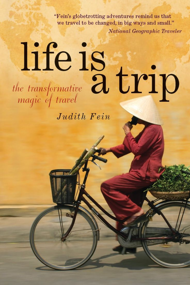 Brian TUT#3 In this book cover, visual metaphor have used. It shows that man riding bike on the road but the background represent world map which it express he is traveling the world.   I really like the concept since this book is about traveling and adventure. Also I can see the relationship between title and images clearly.