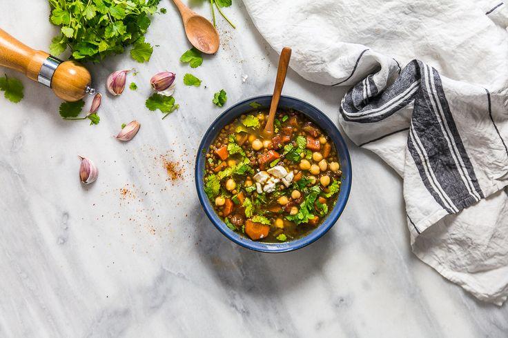 recette lentilles carottes pois chiches