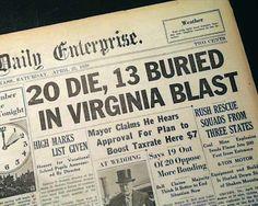Grundy Virginia Coal Mine Explosion 1938 (Red Jacket Mine).