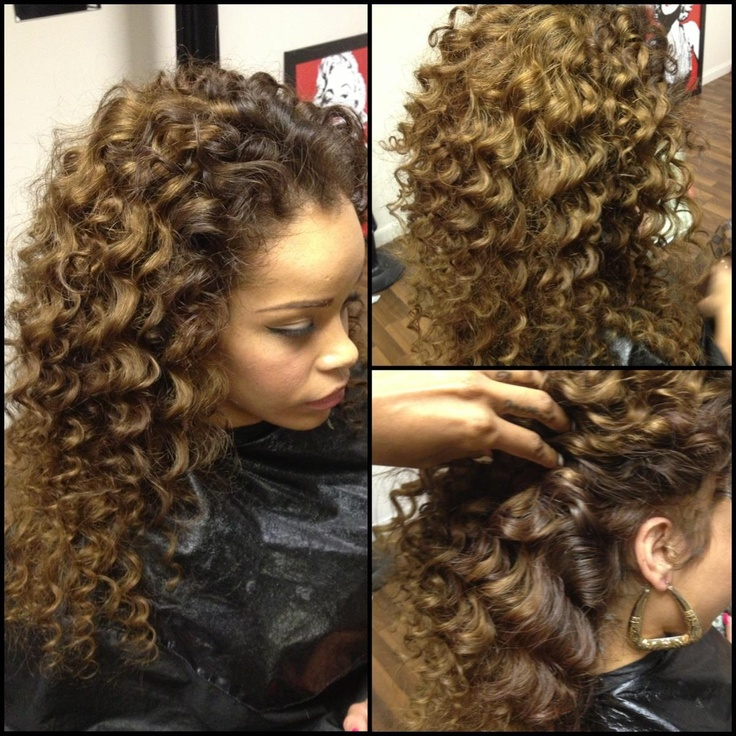 curly sew in hairstyle   I love this hairstyle