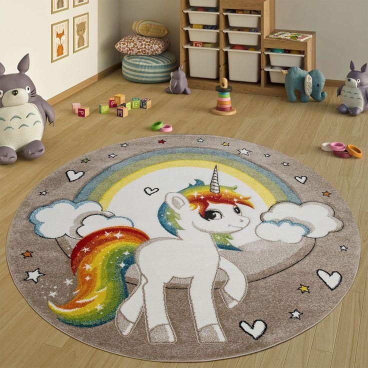 Tappeto Per Bambini Rotondo XXL Beige Kinderteppiche
