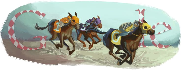 Melbourne Cup 2010 [Кубок Мельбурна] /This doodle was shown: 02.11.2010 /Countries, in which doodle was shown: Australia