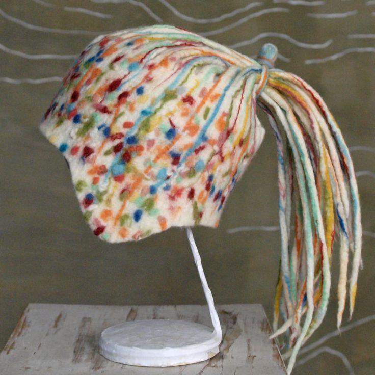 Headband with dreadlocks, Felt headband, Felted ear warmer, Wool headband, Multicolor headband, Unisex wide headband, Unisex accessory by BuriFelt on Etsy
