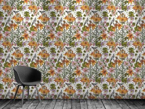 Wallpaper - Tiger lily www.hannakarlzondesign.com. Www.designmaklarna.se