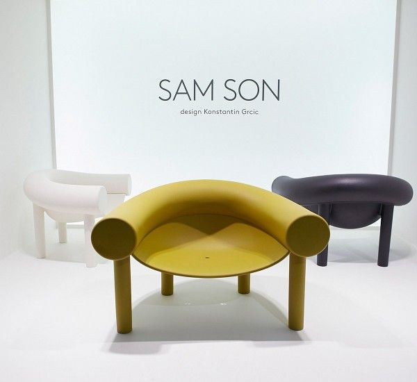 Sam Son is a low chair designed by Konstantin Grcic for Magis, made in polyethylene.