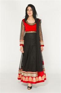 Show details for Red and Black Anarkali