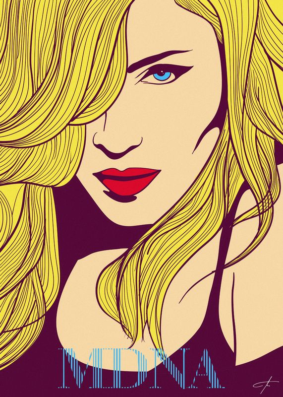 Divas of POP Illustrations: Madonna via costinm.com