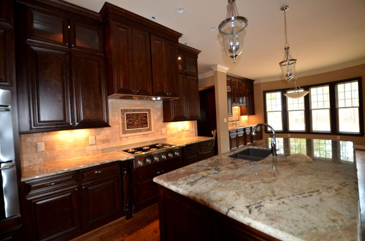 Stapp Kitchen6 Bristol Chocolate kitchen @Lily Ann Cabinets com