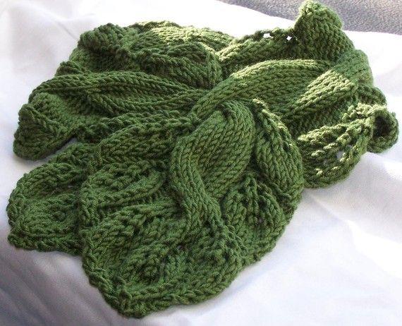 Twisted Vine Knit Neckwarmer PDF Pattern - Great fun to knit and wear. 4.50, via Etsy.