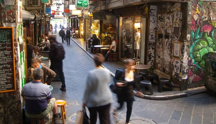 """Melbourne is known for it's """"laneway culture"""", an extensive network of lively city walkways.  Melbourne, VIC, Australia"""