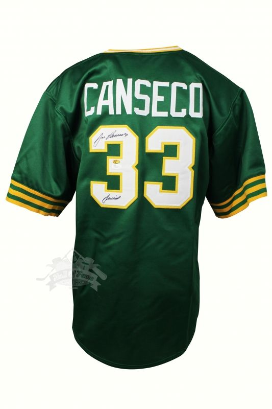 JOSE CANSECO JERSEY GREEN A6180 / JSA W563565