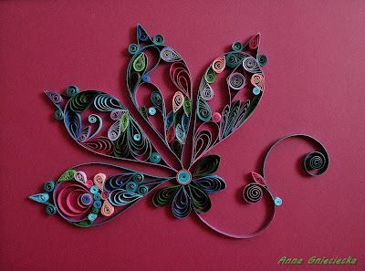 quilling by Anna Gnieciecka, abstract flower.