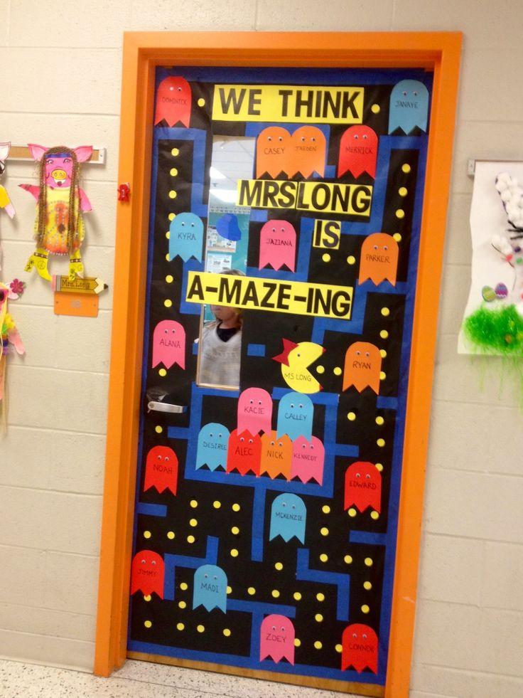 School Classroom Decor Games ~ Teacher appreciation door decorating idea fun in the