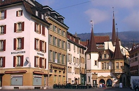 Neuchatel, Switzerland, my favorite place to buy cafe au lait et pastries.