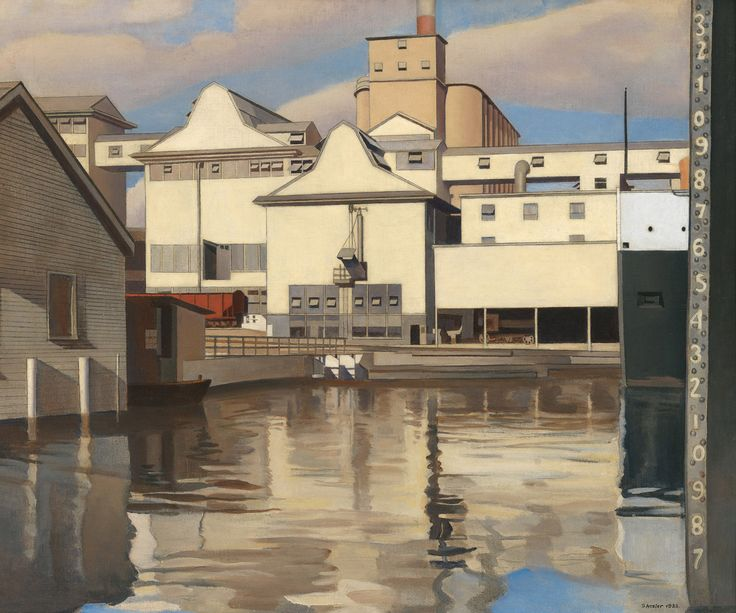 Charles Sheeler (1883-1965), River Rouge Plant, 1932. Oil and pencil on canvas, Whitney Museum of American Art, New York