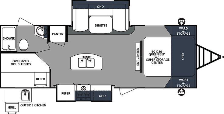Surveyor Fifth Wheels  / Travel Trailers  by Forest River RV