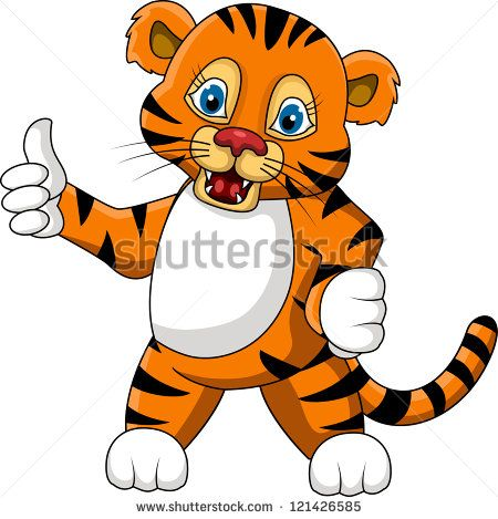 Cute young tiger cartoon expression stock vector frogs pinterest cartoon - Image dessin tigre ...