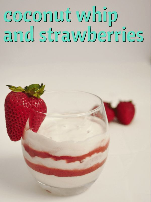 Coconut whipped cream with fresh fruit purée