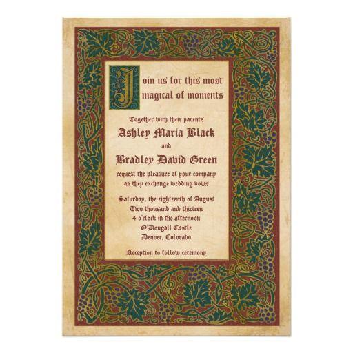 28 Best Medieval Wedding Invitations Images On Pinterest: 89 Best Images About Invitations/Save The Dates On