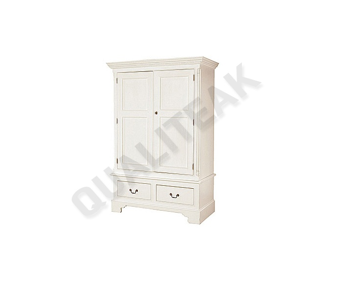 please contacts us for asking detail about Georgian White Double Wardrobe