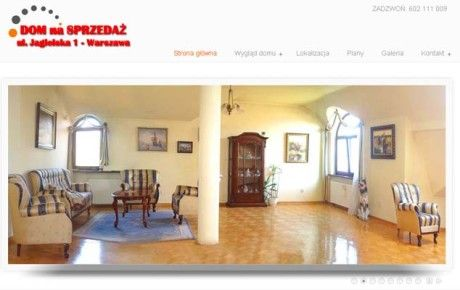 "Website ""House on sale"" http://jagielska.xfile.pl/"