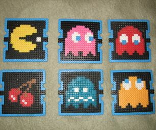 Hey everyone!  This instructable will show you how to make a set of beverage coasters featuring your favorite retro video games using Perler Beads.  I...