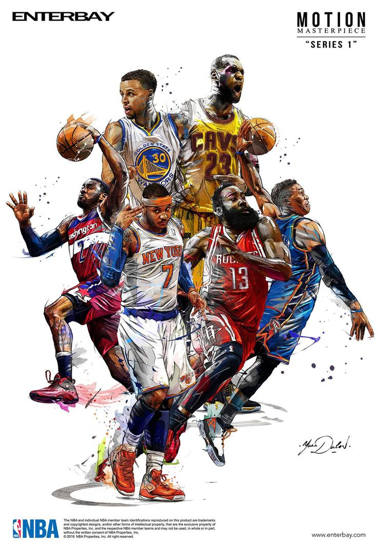 My Work Of Painting And Illustrations For The Brand Enterbay And The Nba  Men's Basketballnba Playerssports