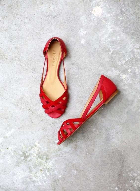 Red beautiful shoe collection 2016/17
