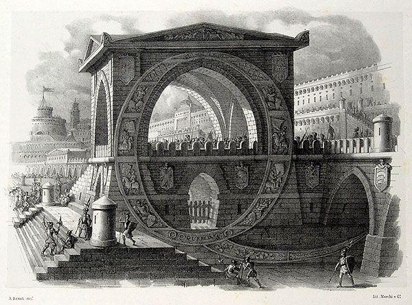 Architectural Alphabet Q (Antonio Basoli)