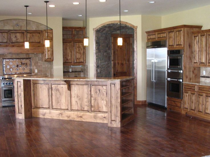 Kitchens designed with a mountain view | Ranch House Plan Kitchen Photo 01 - 101S-0011 | House Plans and More