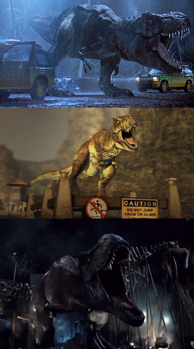 JW Trex history from Jurassic park to The Lost World to finally Jurassic World!