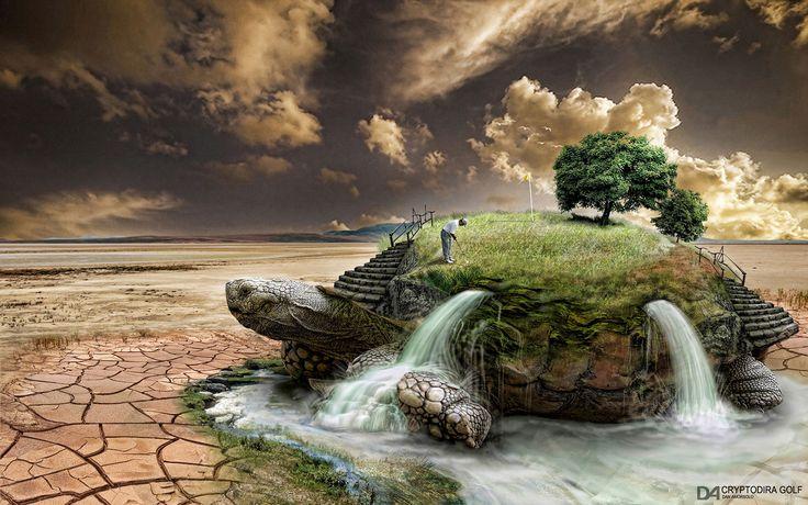 Tlcharger Fond d'ecran surralisme,  Nature,  GOLF,  tortue